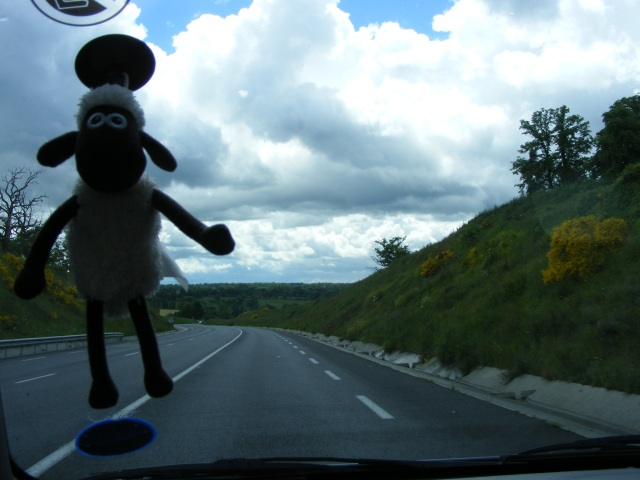 Shaun! On the way to a delightful day in wherever the hell we were. Stayed in a caravan. Had an awful lot of fun.